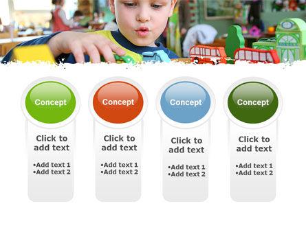 Kid Playing In Kindergarten PowerPoint Template Slide 5