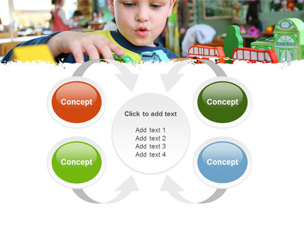 Kid Playing In Kindergarten PowerPoint Template Slide 6