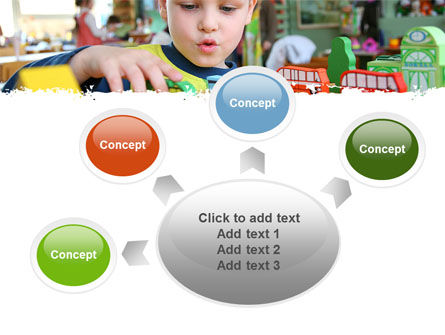 Kid Playing In Kindergarten PowerPoint Template Slide 7