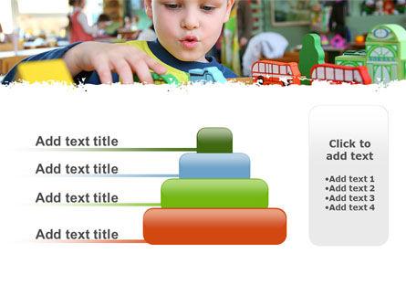Kid Playing In Kindergarten PowerPoint Template Slide 8