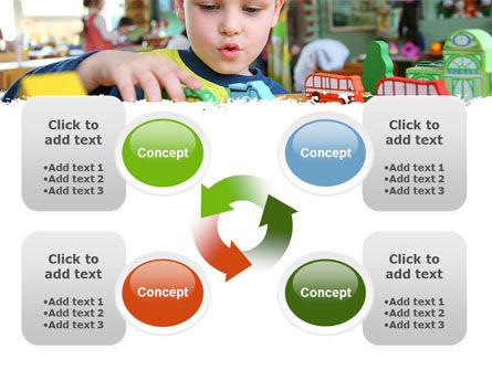 Kid Playing In Kindergarten PowerPoint Template Slide 9