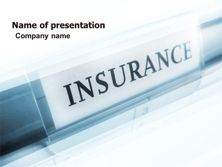 Careers/Industry: Insurance PowerPoint Template #05253