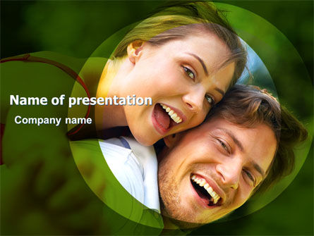 Young Couple PowerPoint Template, 05254, People — PoweredTemplate.com