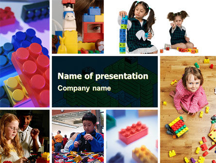 Lego PowerPoint Template, 05258, Education & Training — PoweredTemplate.com
