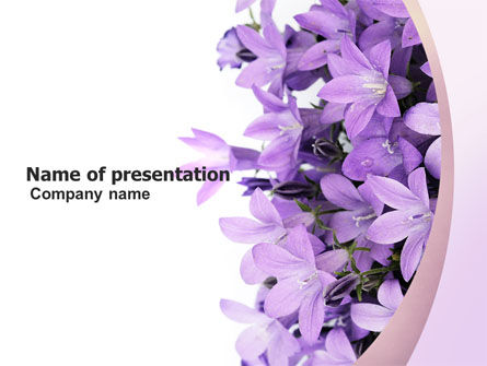 Holiday/Special Occasion: Bellflower PowerPoint Template #05259