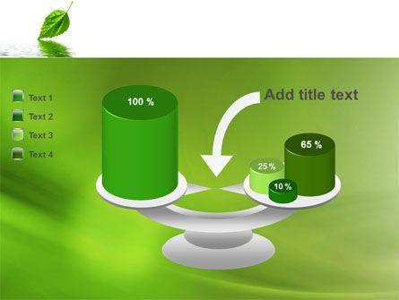 Green Leaf Falling PowerPoint Template Slide 10