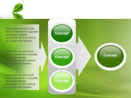 Green Leaf Falling PowerPoint Template Slide 11