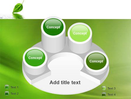 Green Leaf Falling PowerPoint Template Slide 12