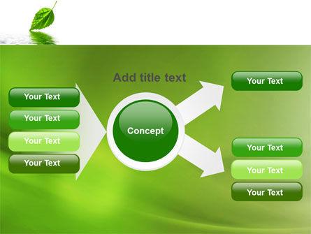 Green Leaf Falling PowerPoint Template Slide 14