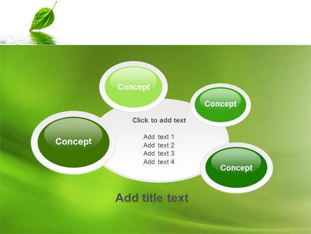 Green Leaf Falling PowerPoint Template Slide 16