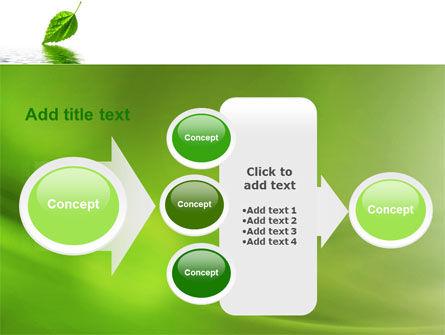 Green Leaf Falling PowerPoint Template Slide 17
