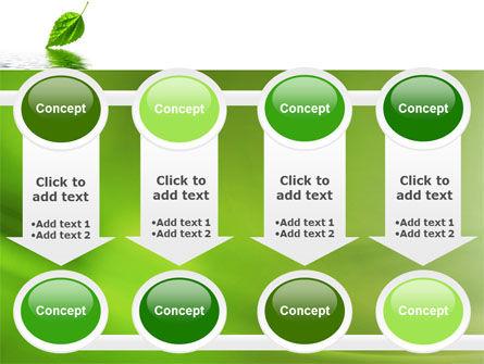 Green Leaf Falling PowerPoint Template Slide 18