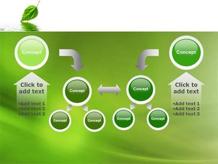 Green Leaf Falling PowerPoint Template Slide 19