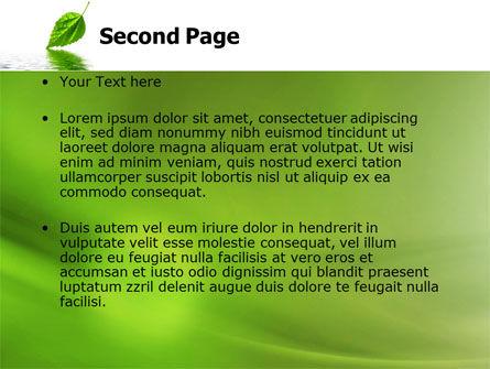 Green Leaf Falling PowerPoint Template, Slide 2, 05260, Nature & Environment — PoweredTemplate.com