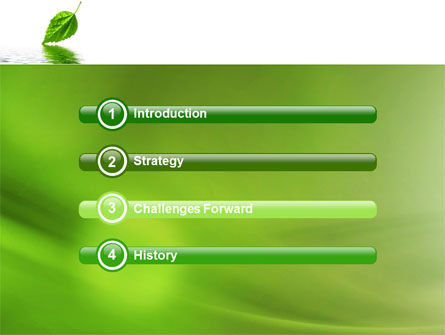 Green Leaf Falling PowerPoint Template, Slide 3, 05260, Nature & Environment — PoweredTemplate.com