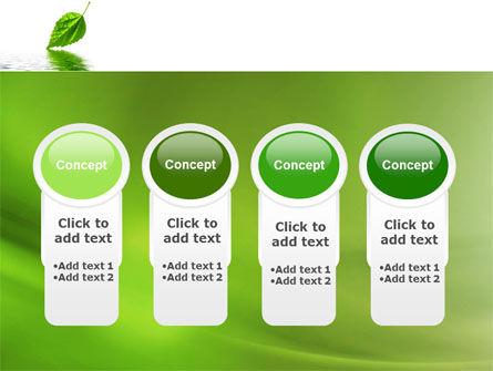 Green Leaf Falling PowerPoint Template Slide 5
