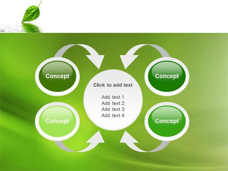 Green Leaf Falling PowerPoint Template Slide 6