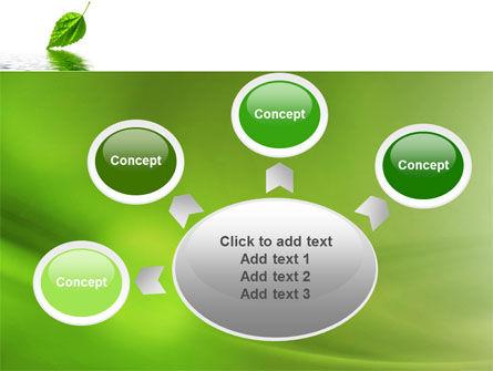 Green Leaf Falling PowerPoint Template Slide 7