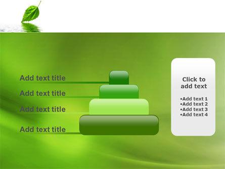 Green Leaf Falling PowerPoint Template Slide 8