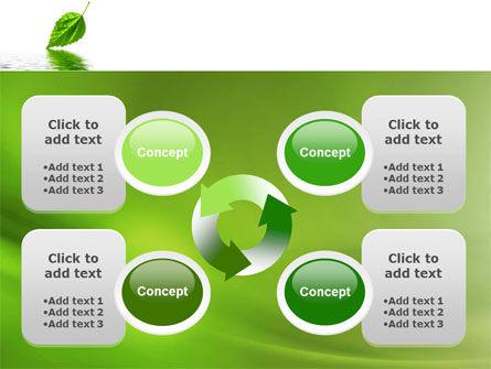 Green Leaf Falling PowerPoint Template Slide 9