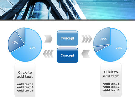 Blue Colored Skyscraper PowerPoint Template Slide 11