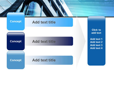 Blue Colored Skyscraper PowerPoint Template Slide 12