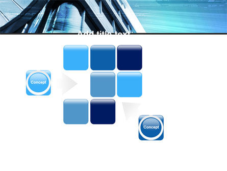 Blue Colored Skyscraper PowerPoint Template Slide 16