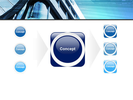 Blue Colored Skyscraper PowerPoint Template Slide 17