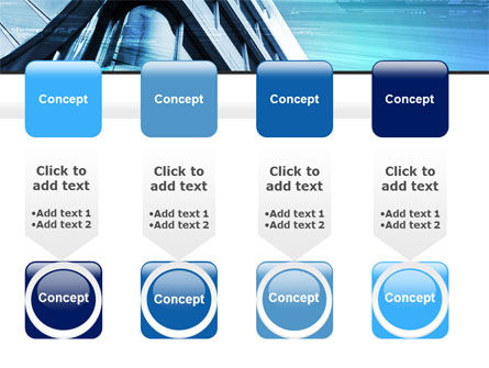 Blue Colored Skyscraper PowerPoint Template Slide 18