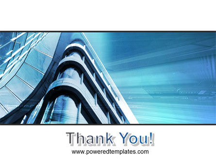 Blue Colored Skyscraper PowerPoint Template Slide 20