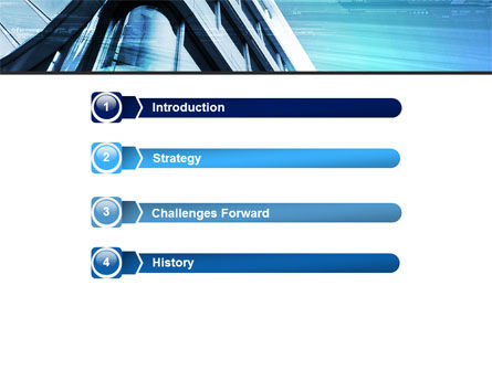 Blue Colored Skyscraper PowerPoint Template Slide 3