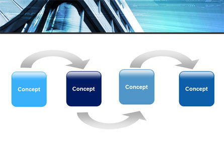 Blue Colored Skyscraper PowerPoint Template Slide 4