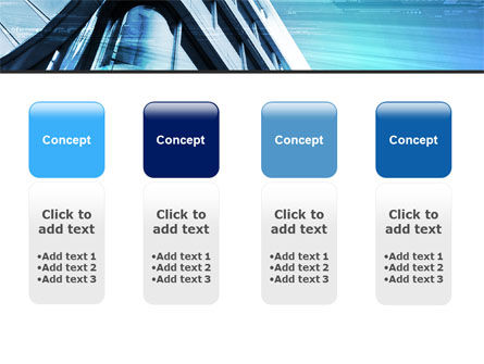 Blue Colored Skyscraper PowerPoint Template Slide 5