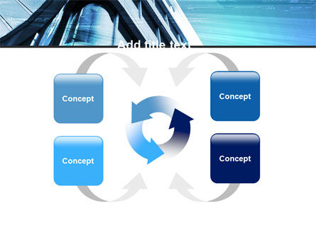 Blue Colored Skyscraper PowerPoint Template Slide 6