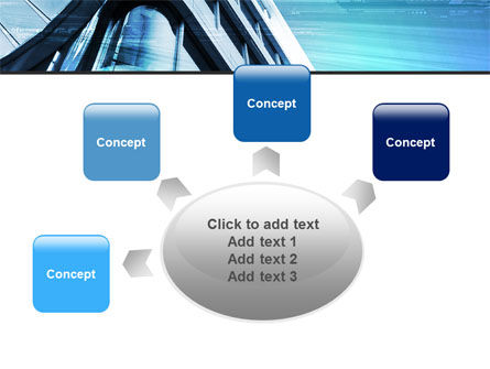 Blue Colored Skyscraper PowerPoint Template Slide 7