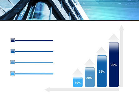 Blue Colored Skyscraper PowerPoint Template Slide 8
