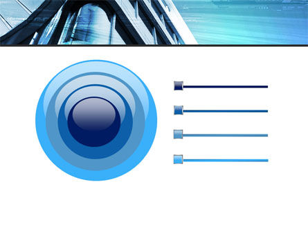 Blue Colored Skyscraper PowerPoint Template Slide 9
