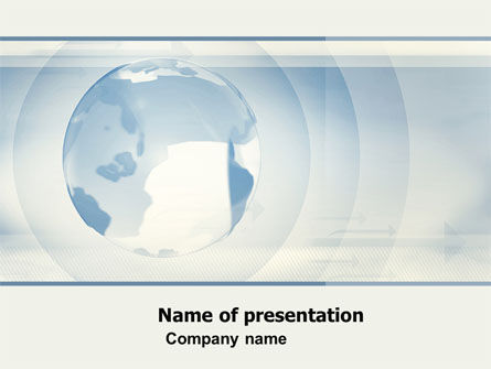 Global: Crystal Globe On The Light Blue PowerPoint Template #05263