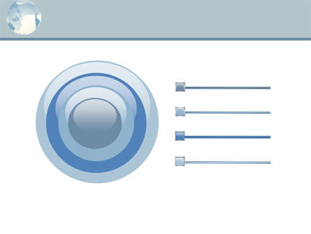 Crystal Globe On The Light Blue PowerPoint Template Slide 9