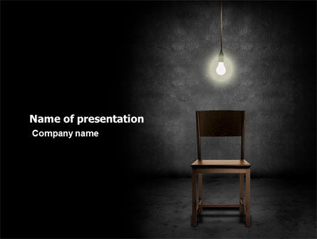 Consulting: Dark Room With Chair And Lump PowerPoint Template #05264