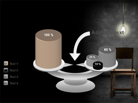 Dark Room With Chair And Lump PowerPoint Template Slide 10