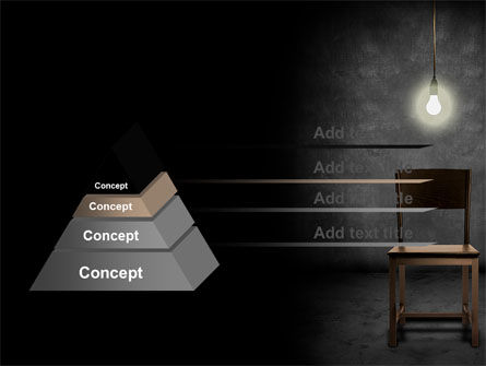 Dark Room With Chair And Lump PowerPoint Template Slide 12