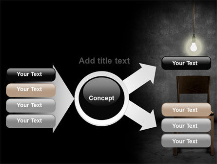 Dark Room With Chair And Lump PowerPoint Template Slide 14