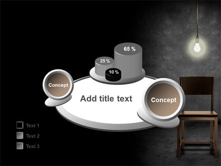 Dark Room With Chair And Lump PowerPoint Template Slide 16
