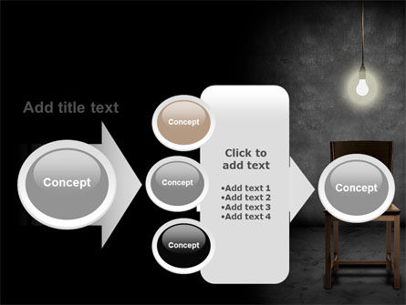 Dark Room With Chair And Lump PowerPoint Template Slide 17