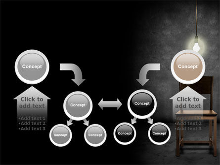 Dark Room With Chair And Lump PowerPoint Template Slide 19