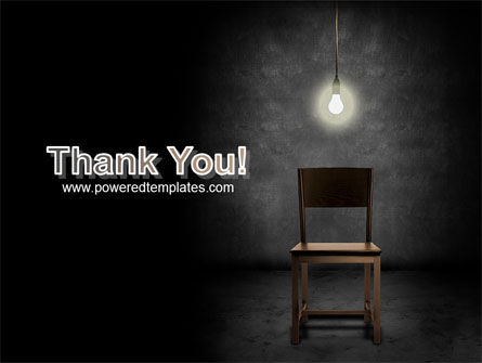 Dark Room With Chair And Lump PowerPoint Template Slide 20