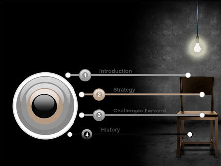 Dark Room With Chair And Lump PowerPoint Template Slide 3