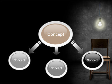 Dark Room With Chair And Lump PowerPoint Template Slide 4