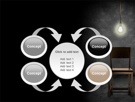 Dark Room With Chair And Lump PowerPoint Template Slide 6